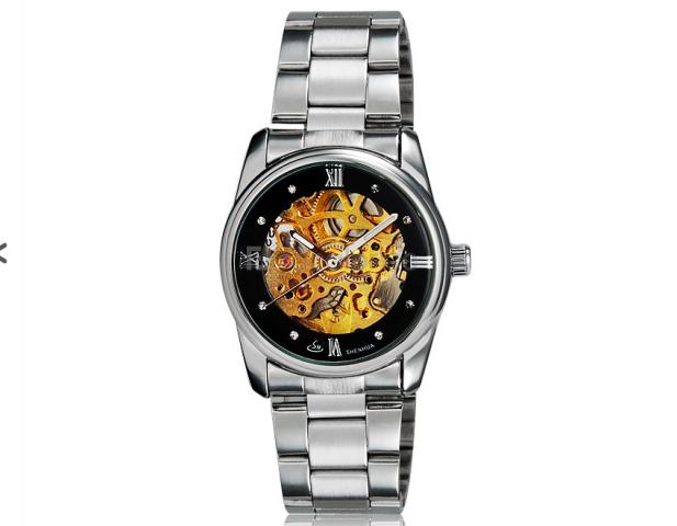 Mechanické Automaty Sinobi Crystal černé. Dámské hodinky ... 1b97ed7ca7